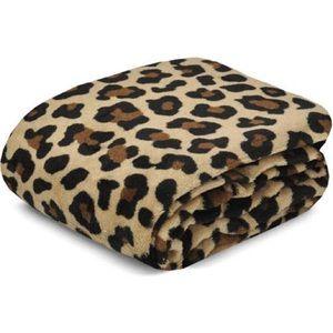"Leopard Cozy Plush Fleece 50"" x 60"" Cheetah Throw"